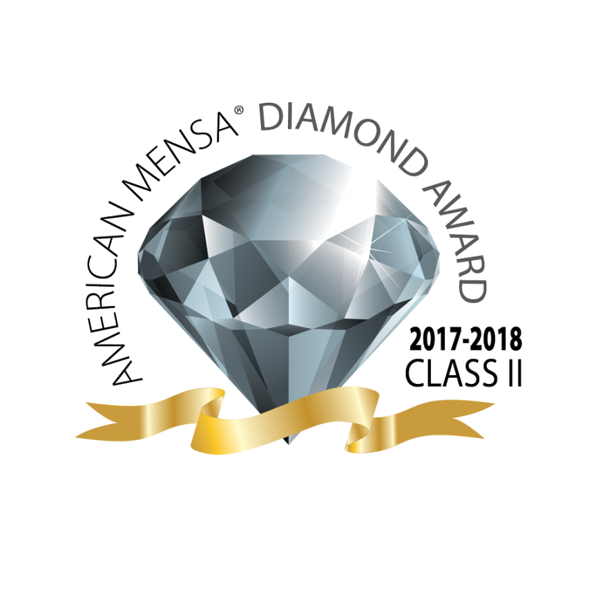 CBR Mensa Awarded 2018 Diamond Jewel Award!
